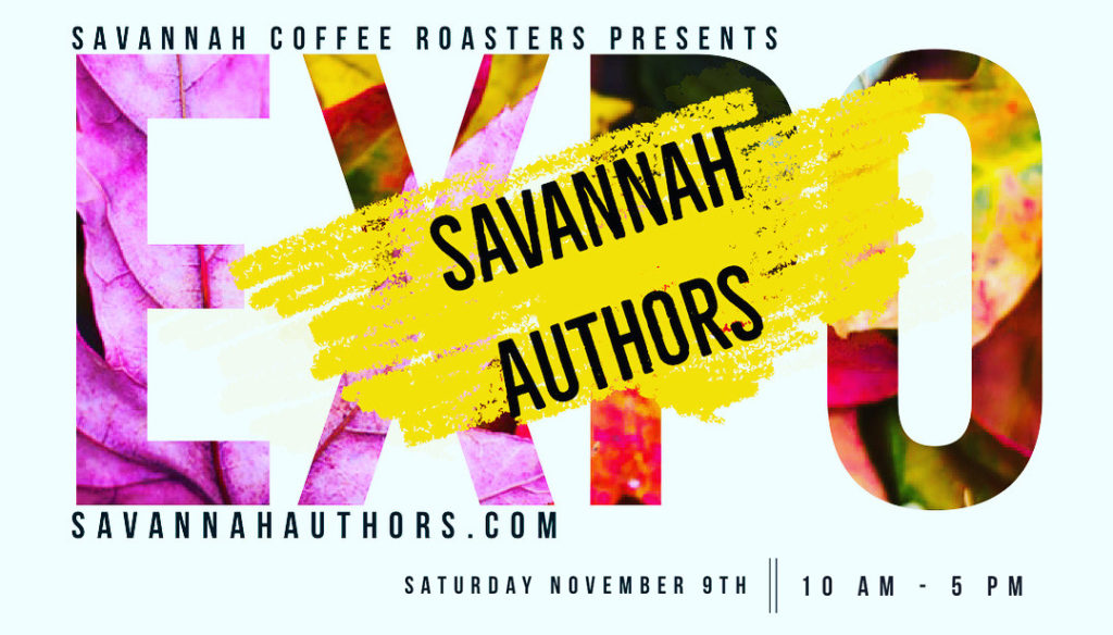 Savannah Authors Expo, Nov. 9, 2019, at Savannah Coffee Roasters
