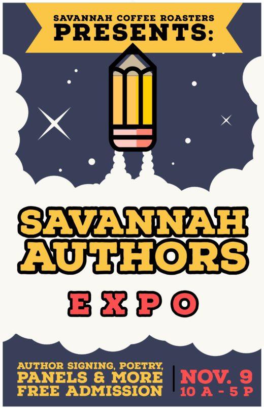 Savannah Authors Expo, Nov. 9, at Savannah Coffee Roasters