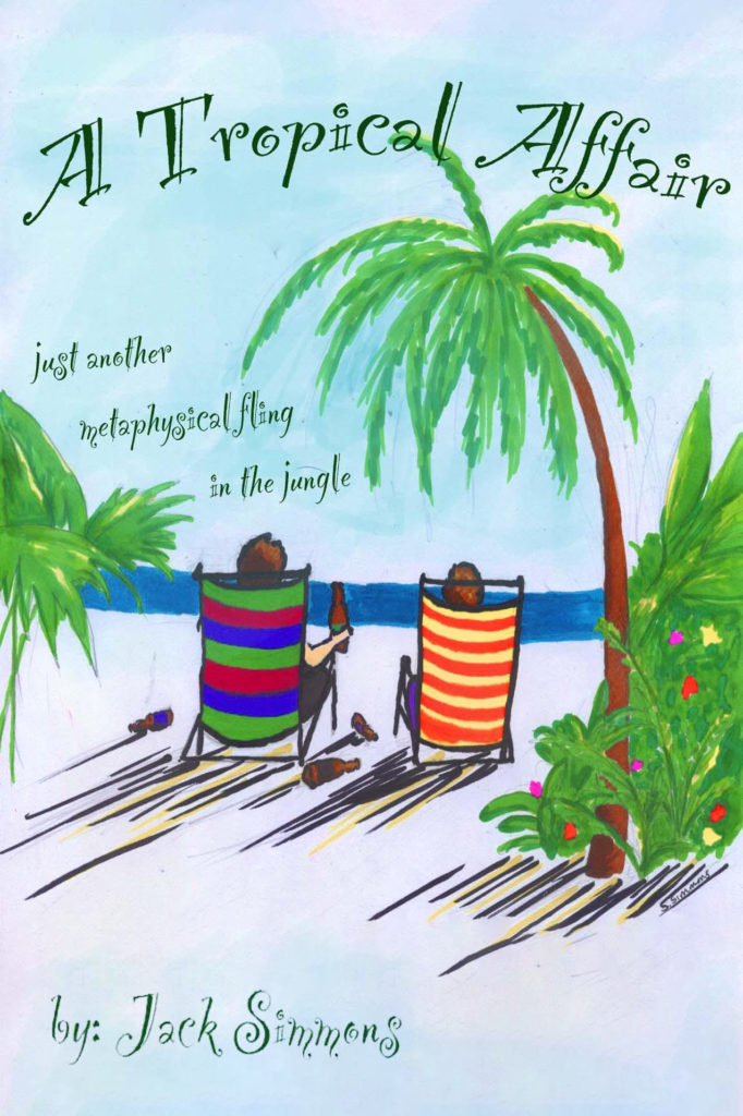 Poster for the play A Tropical Affair by Jack Simmons